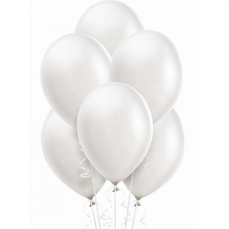 "12"" Pearl White Latex Balloons - 20PC-0"