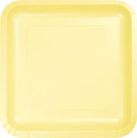 Mimosa Yellow Square Paper Plates 9- 8PC-463266
