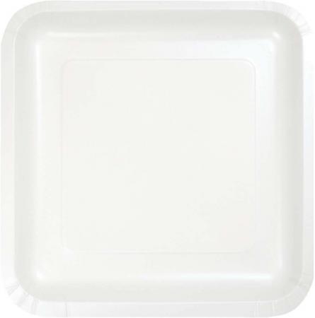 Supreme White Square Paper Plates 9 - 8PC-463272
