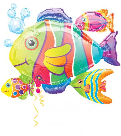 """Tropical Fish Cluster Super Shape Balloons 30"""" P40-0"""