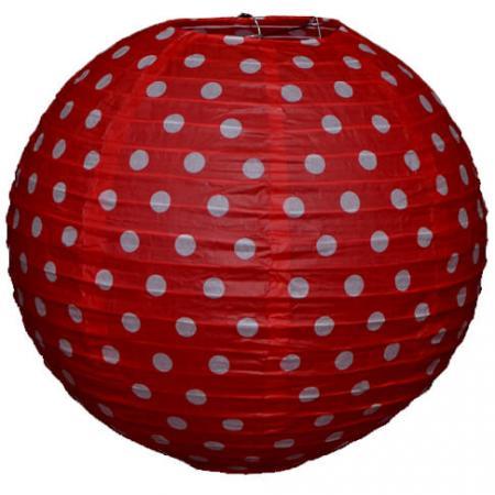 Red Polka Dot Paper Lantern-0
