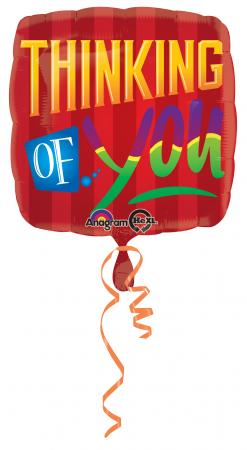 """Thinking of You Square Balloons 18"""" S40-0"""