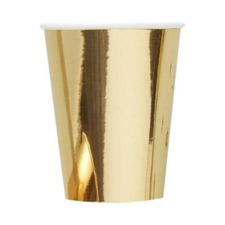 Gold Metallic Paper Cups_702681_Image 1