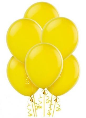 "12"" Yellow Latex Balloons - 100CT-0"
